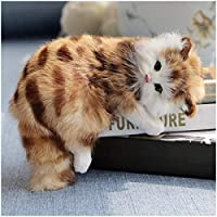 LUCKFY Realistic Plush Cat Simulation Model - Lifelike Cat Toy Stuffed Kitten Figurine - for Home Decoration Ornaments Kids Birthday Gift