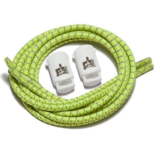 Speedlaces iBungee–Lacci elastici per scarpe Reflective Yellow