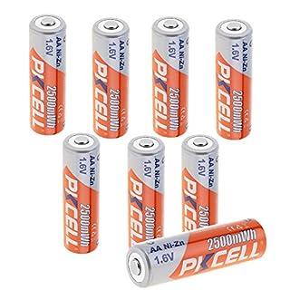 AA-Akkus NiZn AA 1,6V 2500mWh wiederaufladbare Batterien 8er Pack