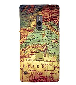 Map Back Case Cover for One Plus Two::One Plus 2::One+2