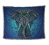 [150 * 120cm] Indischer Elefant Tapestry/Wandbehang Dekor, Platz Indian Home Hippie Bohemian Tapestry/Badetuch/Strand Teppich