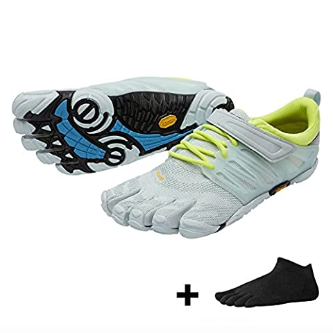 Vibram FiveFingers V-Train Women , Size:40;Color:Pale Blue / Safety Yellow