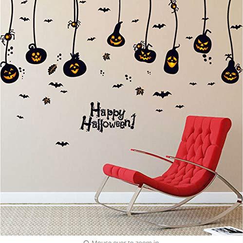 Wandaufkleber Halloween Party Pull Blume Dekoration Kürbis Spinne Aufkleber Bänder 60x90cm (Halloween Wallpaper Minecraft)