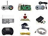 Raspberry Pi 3 Model B 32GB Preloaded RetroPie Game Console Accessories Kit.
