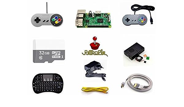 Raspberry Pi 3 Model B 32 Gb Preloaded Retropie Game Computer Zubehör