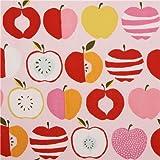 Apfel Canvas Jeans Bio Stoff Baumwollstoff Rosa Orange Pink