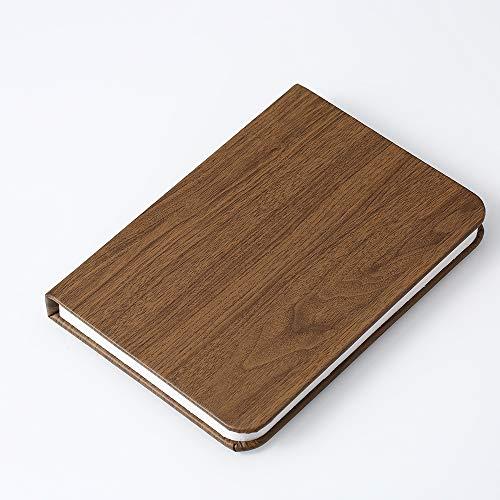 ASYPJP Nachtlicht Pu Wood-Print Buch Lampe Flip Page Folding Led Buch Lampe Usb Charging Small Night Light HolzdruckLeder Nussbaum -