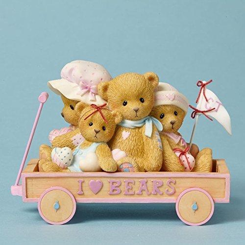 Cherished Teddies Gary, Eleanor, Sheila & Susanna I Love Bears Cart by Enesco by Enesco -