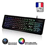 KLIM Domination Clavier Mécanique AZERTY RGB Blue Switches - Frappe Rapide...