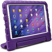 Samsung Galaxy Tab A 10.1 custodia per bambini, COOPER DYNAMO Resistente custodia protettiva paraurti per uso intenso per bambini con manico incorporato, supporto e proteggi schermo gratuito (Viola)