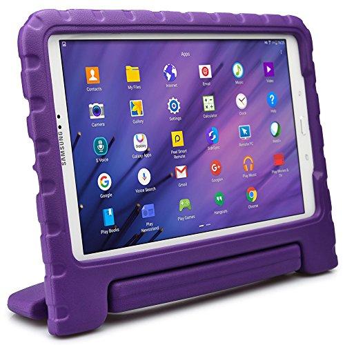 Samsung Galaxy Tab A 10.1 hülle fur kinder, COOPER DYNAMO Beanspruchbare, strapazeirfähige, robuste, gepolsterte Hartschalenhülle mit integriertem Griff, Standfunktion & durchsichtigem Displaysschutz (Violett)