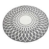 Jhey Einfacher Moderner Runder Teppichschwarzweiss-Wohnzimmercouchtisch-großer Teppich