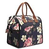 UtoteBag Sac Isotherme Repas Lunch Bag Sac Déjeuner Portable 10L pour Pique-Nique/École/Travail/Familie/Enfant/Hommes/Femmes -Fleur de Pivoine