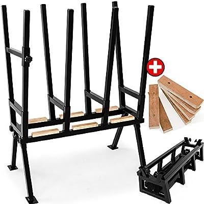 Sägebock mit Feststellbügel inkl. 6x Schwertschutz Höhenverstellbar Holzspalter STAHL Holzsägebock Holz