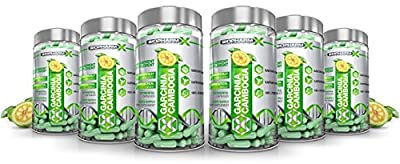 x6 Maximum Strength Garcinia Cambogia : Powerful Appetite Suppressant / Fat Burner (6 Month Supply) by BioPharm-X