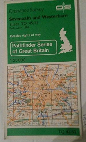 Pathfinder Maps: Sevenoaks and Westerham Sheet 1208 (TQ45/55) by Ordnance Survey (1989-12-05)