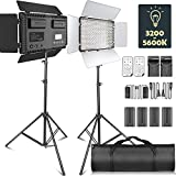 LED Video Licht, SAMTIAN Dimmable 2 Stück Bi-Farbe 600...
