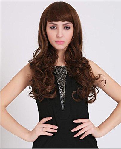 Meylee Perücken Charmante Mode Perücke wellig/lockig Frauen lange Haare für Dating/Prom + eine kostenlose Perückekappe , picture color