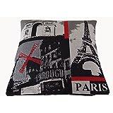 Funda de almohada decorativa de la ciudad de Londres, París o Berlín de cojín decorativo