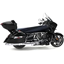 Impermeable para motocicleta para grandes V-Twin 's (negro/plata)