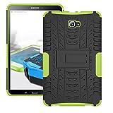 Hybrid Outdoor Schutzhülle Cover Schwarz / Grün für Samsung Samsung Galaxy Tab A 10.1 T580 T585 Tasche Case