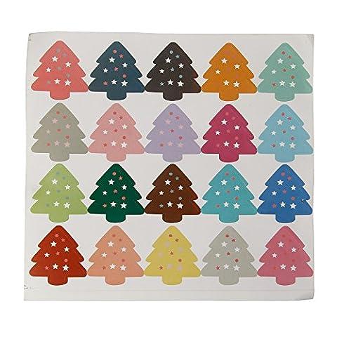 YouY® 1sheet Papier Party Arbre de Noël de Petit gâteau Autocollants de joint Étiquettes Étiquettes pour cadeaux