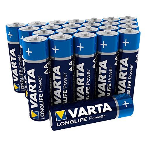 Varta Longlife Power Batterie AA Mignon Alkaline Batterien LR6 (24er Pack, Design/Produktname kann abweichen) (Taschenlampe Value Pack)