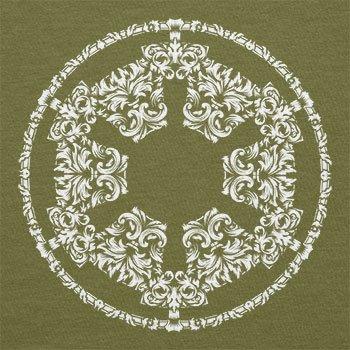 Texlab–Floral Imperial Logo–sacchetto di stoffa Oliva