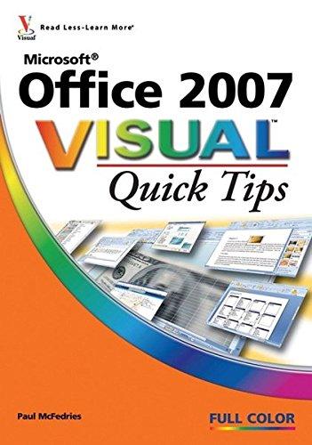 Microsoft Office 2007 Visual Quick Tips PDF Books