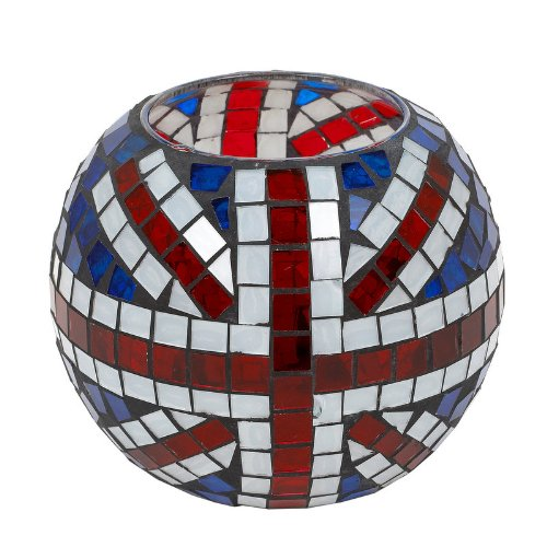 Landon Tyler Grand bougeoir ovale Motif Union Jack en mosaïque