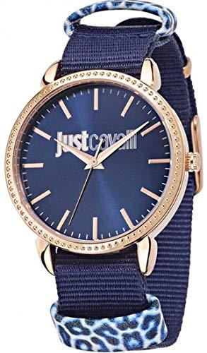 JUST CAVALLI Damen - Armbanduhr All - Night Analog Quarz Textil R7251528502