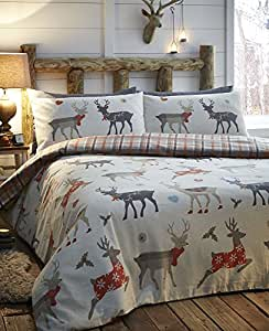 christmas bedding warm cosy brushed cotton flannelette. Black Bedroom Furniture Sets. Home Design Ideas