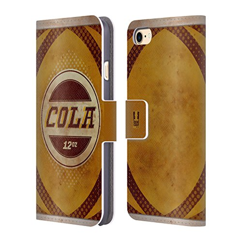 Head Case Designs Root Beer Blechdose Handy Hülle Brieftasche Handyhülle aus Leder für Apple iPhone 6 / 6s Cola