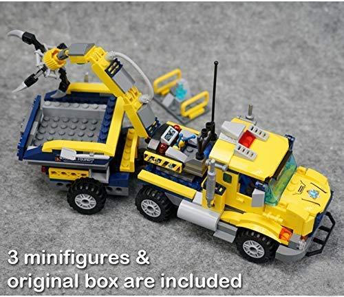 Q-Man Geniale Spielsachen Schmuckstück Bergleute - der Kran Greifarm - 3 Minifiguren und Original Kiste Sind Enthalten - Baukasten #B407