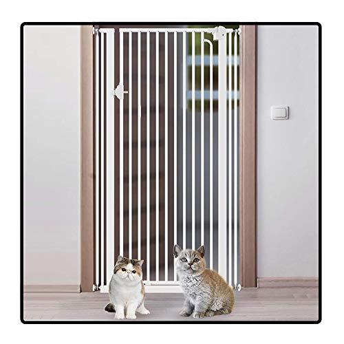 QIANDA Türgitter Treppenschutz Gitter Extra Groß Einfach, Metalltor Zu Sichern for Zuhause Eingang, Passöffnung Bis 162cm (Size : 110-114cm)