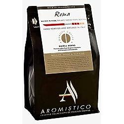 AROMISTICO | Finest Smooth Medium Roast | Italienische Premium-geröstete ganze KAFFEEBOHNEN | ROMA | For Pour Over Drip, Chemex, Espresso, Moka, Cafetiere, Aeropress | DARK, MELLOW, SHARP & NUT-Like