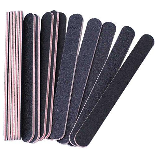 Professionelle Nagel-puffer (15Pcs Nagelfeilen doppelseitige Emery Board (100/180 Grit) - Nagel-Puffer-Dateien für Zuhause und Salon verwenden)