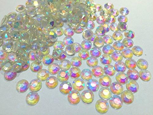 CUSHY ~! Jelly perles blanches transparentes AB Résine Flatback pour Nail Art/vêtement/Decoration. 4mm 5 mm 6 mm: 10000pcs SS30 6mm