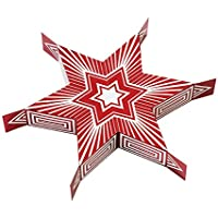 Talking Tables Star Sharing Cracker for 6, #PullMe, for Christmas Dinner and Party, Red