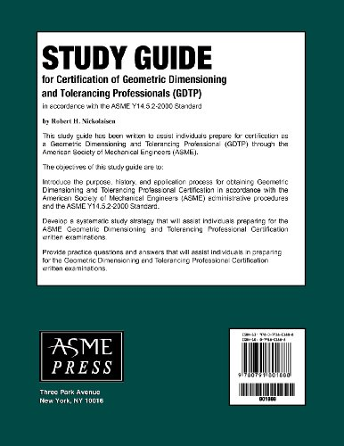 Study Guide for Certification of Geometric Dimensioning and Tolerancing Professionals (GDTP)