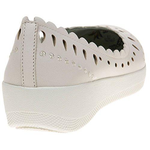 Fitflop Anna Sui Latticed Ballerina Damen Schuhe Weiß Weiß