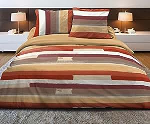 Douceur de Nuits DR1249_1 Bariol Housse de Couette 220 x 240 cm + 2 Taies 63 x 63 cm Multicolore