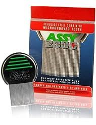 ASSY 2000Peigne Poux Terminator, peigne poux et lentes pour les poux Traitement professionnel en acier inoxydable.