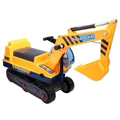 Smibie escavatore giocattolo del gioco della sede arena con braccio lungo artiglio sulla spiaggia o in casa dei bambini di colore giallo (size 1)