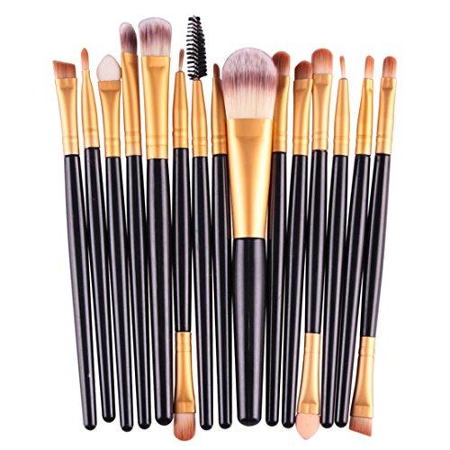 15 pcs Make-up Pinsel Profi Augenbraue Blusher Lippe Powder Foundation Lidschatten Eyeliner Kosmetik Make Up Pinsel Brush Set Werkzeug HJ