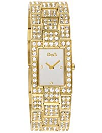 5e5f4556358c D G Dolce Gabbana Women s Quartz Watch with Mother of Pearl Dial Analogue  Display and Gold Stainless Steel
