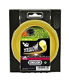 Mähfaden/Nylonfaden, gelber Rundfaden, hoher Widerstand gegen Ausfranzen und geringe Neigung zum Verschmelzen, für niedriges Gras, 4.0 mm x 30 m