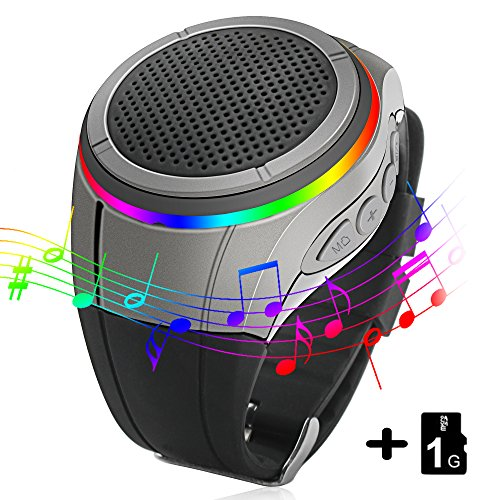 Galleria fotografica Svpro Altoparlanti Bluetooth Watch,Convenien Intelligente Bracciale con Giocatore di Musica MP3, Chiamate a Mani Libere, Radio, Autoscatto, Supporti USB, TF Prendendo Photoes