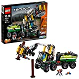 LEGO 42080 Technic Forest Machine Truck, 2 in 1 Tractor with Log Trailer, Power Functions Motor and Pneumatic System, Advanced Construction Toy