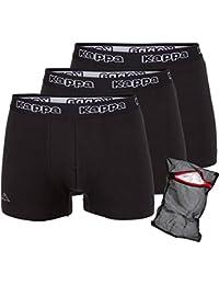 Kappa Herren-Boxershorts Black-Ziatec-Edition 3er Pack - Unterhosen Größe S - 4XL- Unterhosen - Unterwäsche für Männer